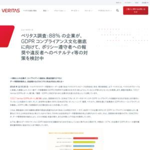 「2017 Veritas GDPRレポート」第3章