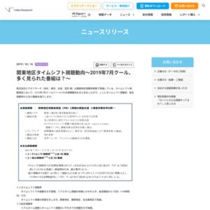 関東地区タイムシフト視聴動向~2019年7月クール、多く見られた番組は?~