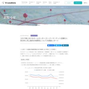 コロナ禍におけるホームセンター/スーパーマーケット店舗の人流分析と売上動向の相関性についての調査レポート