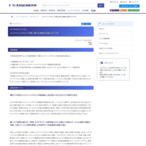 エステティックサロン市場に関する調査を実施(2017年)