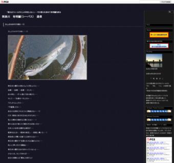 筑後川 鱸(シーバス) 通信