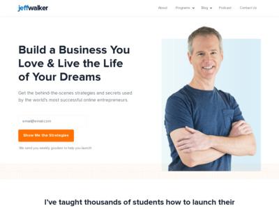 Jeff Walker (ジェフ・ウォーカー)のWordPress(ワードプレス)活用事例