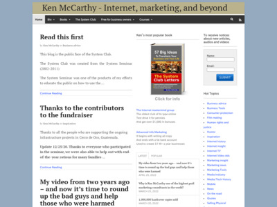 Ken McCarthy (ケン・マッカージー)のWordPress(ワードプレス)活用事例