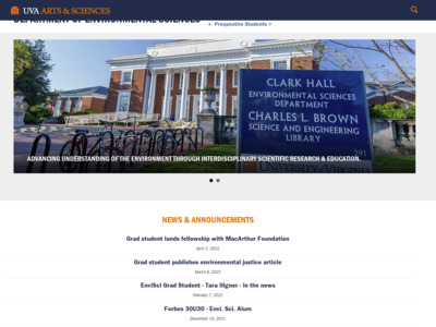 University of Virginia (バージニア大学)のWordPress(ワードプレス)活用事例