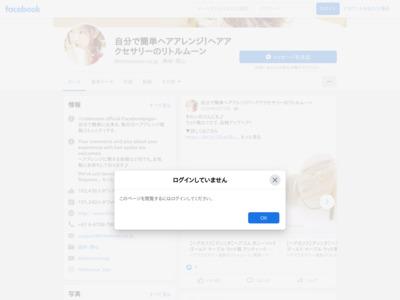 自分で簡単ヘアアレンジ!ヘアアクセサリーのリトルムーンのFacebookの商品販売ページ