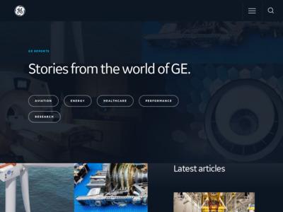 GE (ジェネラル・エレクトリック)のWordPress (ワードプレス)活用事例