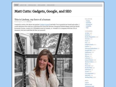 Matt Cutts (マット・カッツ)のWordPress(ワードプレス)活用事例