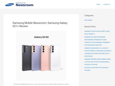 Samsung (サムソン)のWordPress (ワードプレス)活用事例