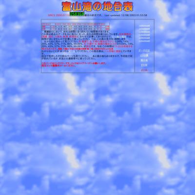 富山湾の地合表